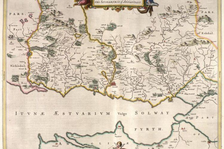 Annandale 1654 Blaeu Map CTN