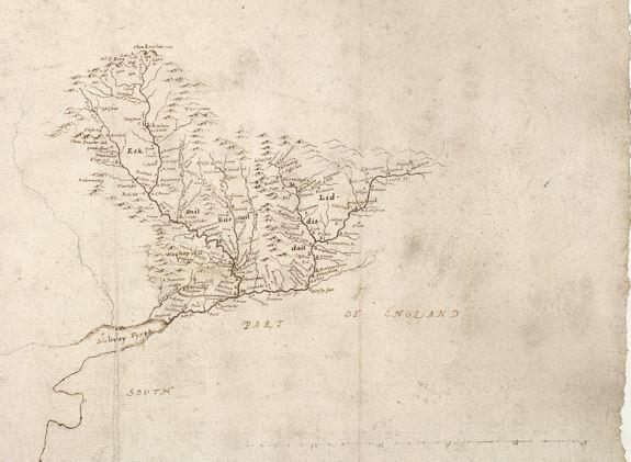 Eskdale Liddesdale drawing 1633 Blaeu Map CTN