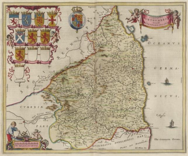 Northumberland 1662 Blaeu Map CTN