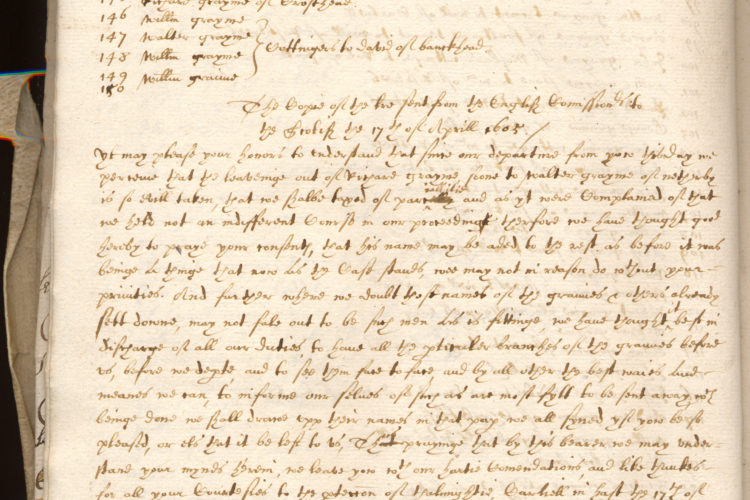 Pacification Of The Borders Historical Manuscripts Commission July 1605 – November 1642. 54 Pages Of Transcript