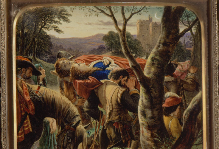 Dowie Dens Of Yarrow, Painting By Sir Joseph Noel Paton With Ballad