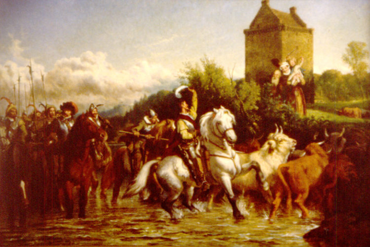 Johnny Armstrong's Return, Painting By Emmerson