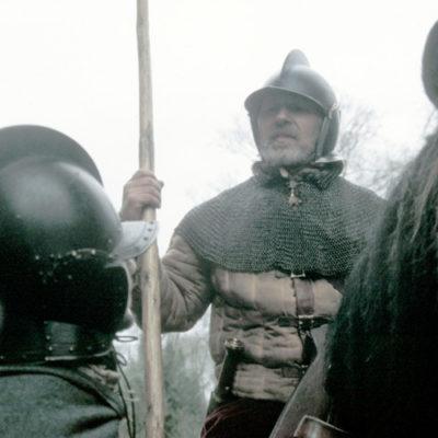 Reiver On Horse Burgeonet Helmet Lance