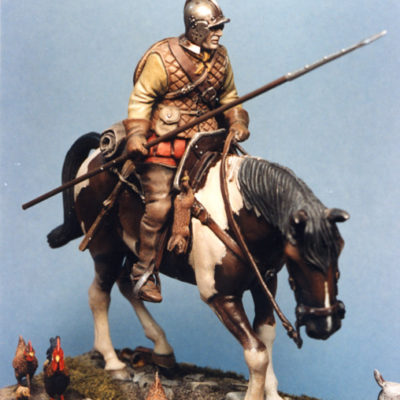 Reiver With Lance On Horse Model