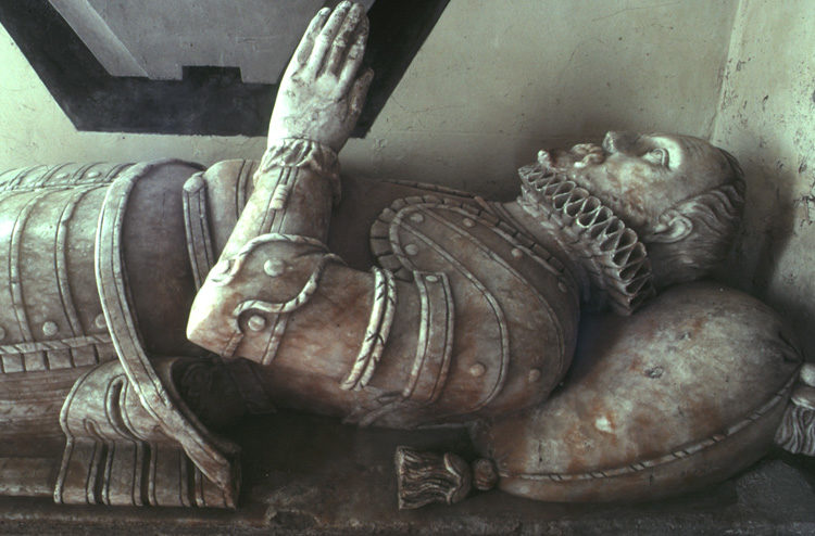 Sir Richard Lowther Tomb And Effigy